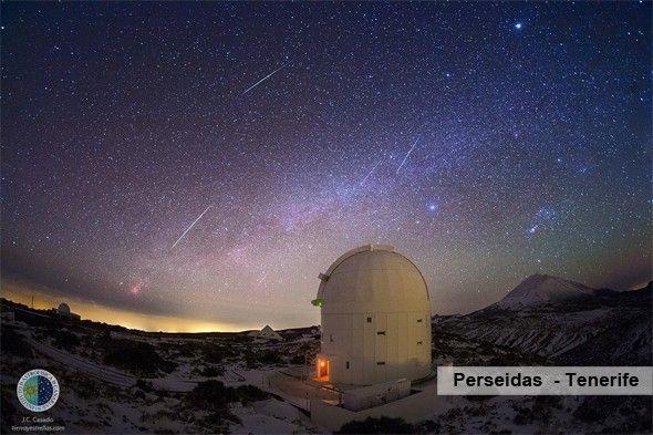 Alquiler coches Tenerife para ver la lluvia de estrellas