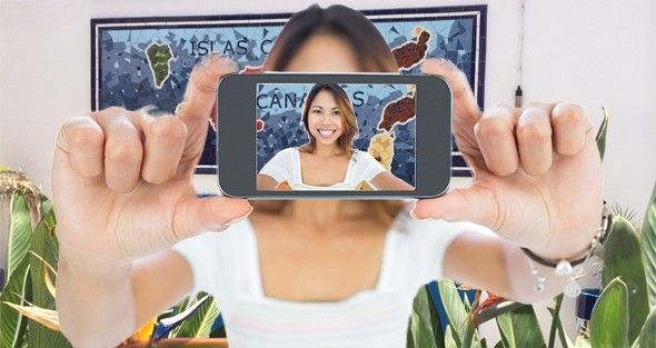 Selfie alquiler coches tenerife Trencadis